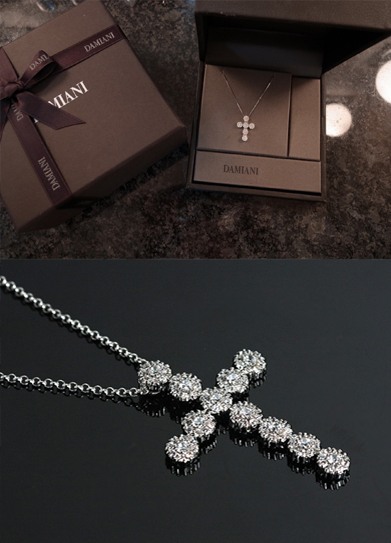 [자체제작] 다미아* cross necklace ( 92.5% real silver )