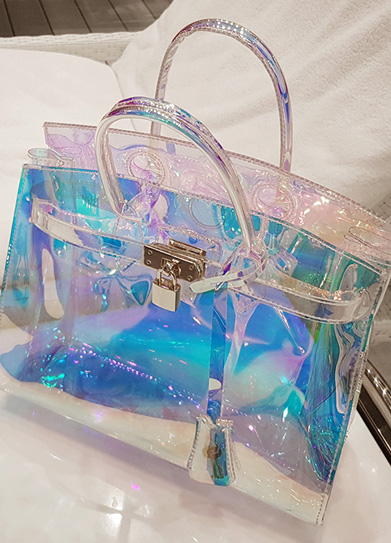 [재입고] Hologram pvc birkin bag