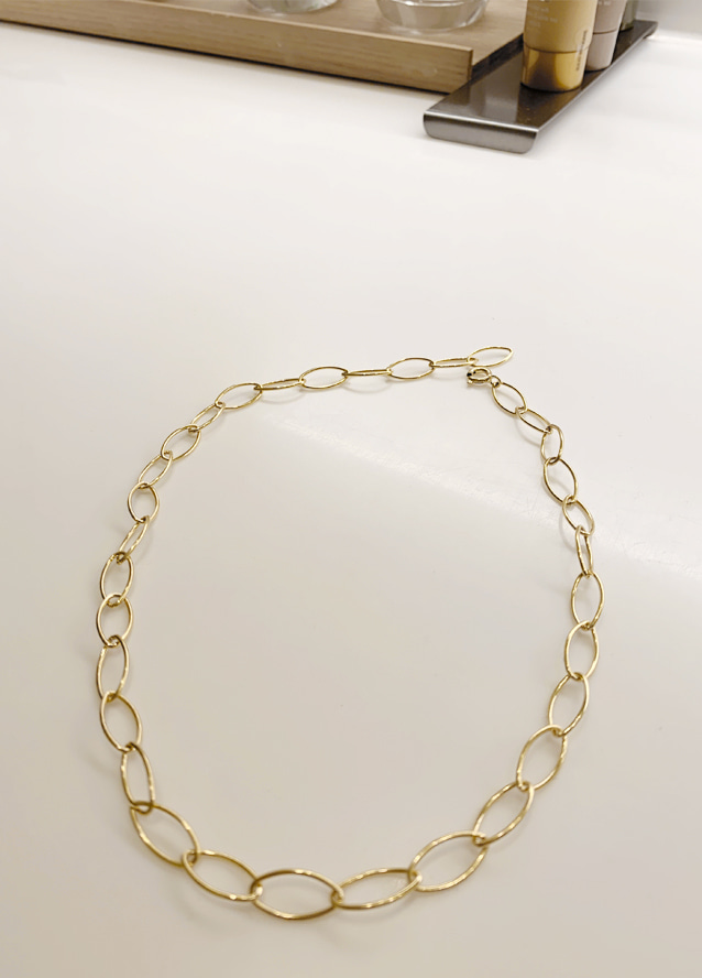 [handmade - silver 92.5] Ellipse chain necklace